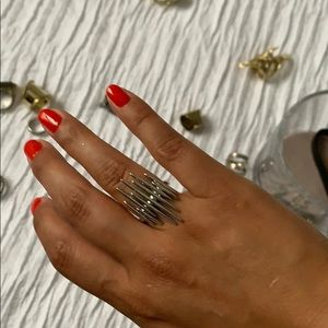 CC skye Silver ring with spikes
